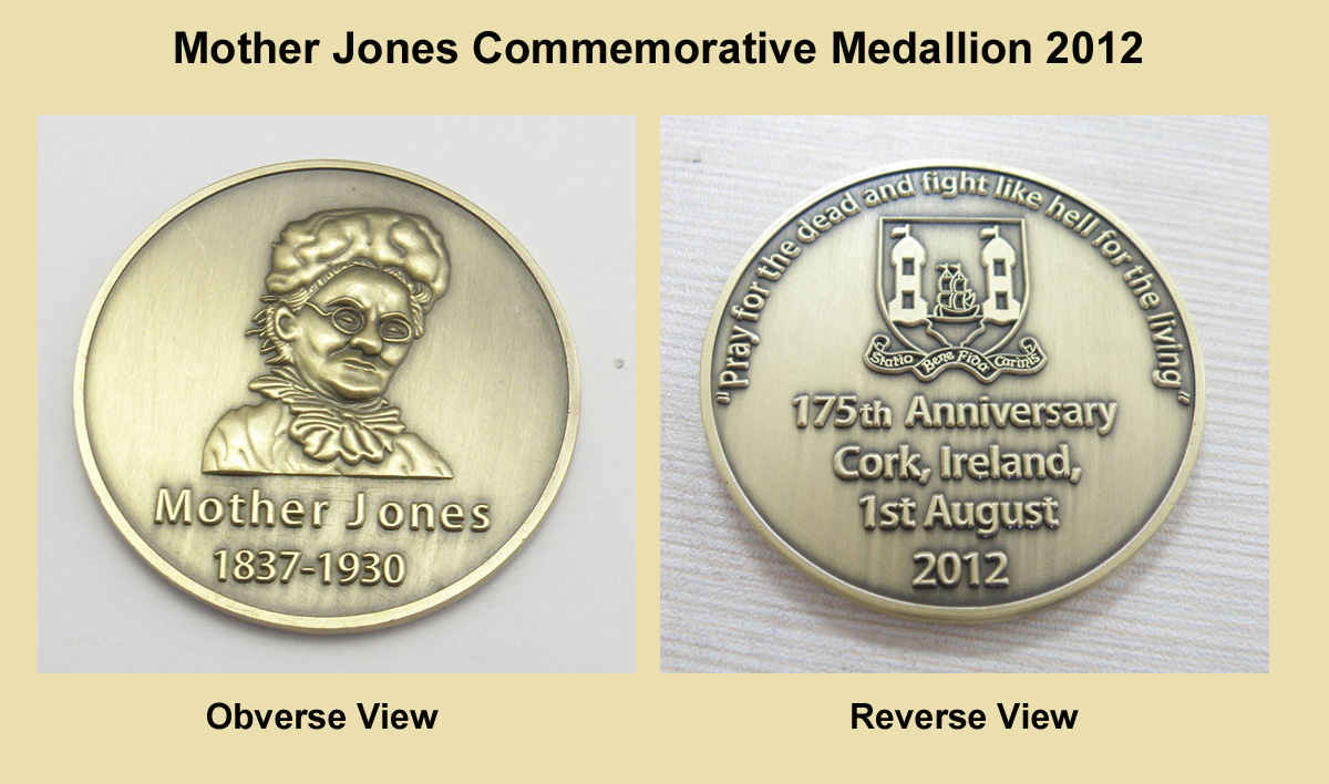 Mother Jones Commemorative medallion / coin
