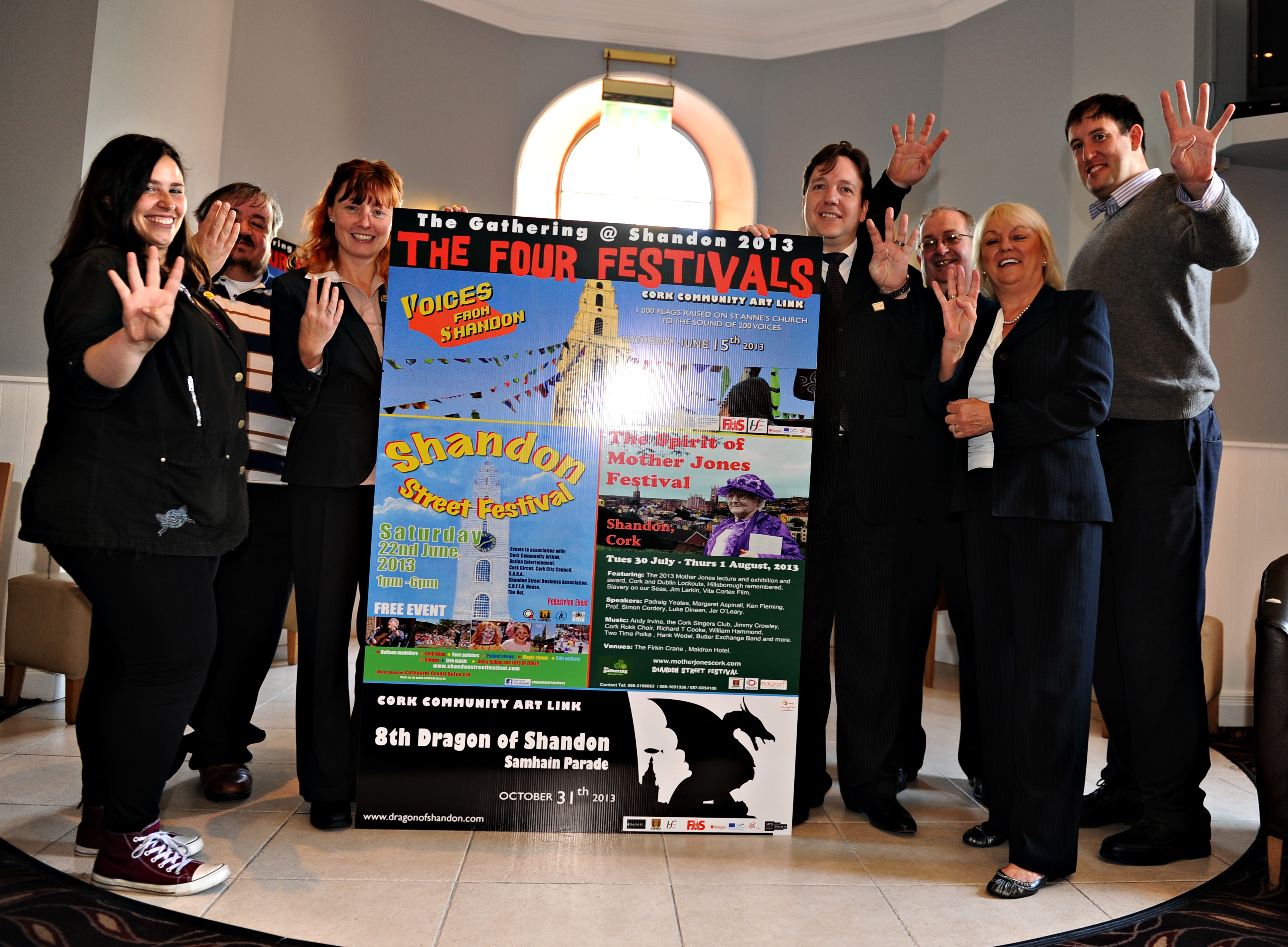 2013 mother jones cork launch of the four festivals of shandon yesterday 29 at the maldron hotel