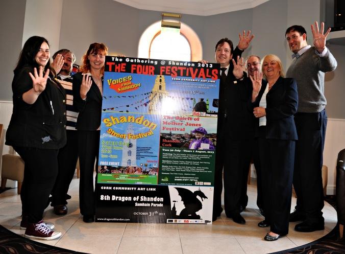 Launch of the Four Festivals of Shandon yesterday (May 29) at the Maldron Hotel.  L-R: Sandra Gil, John Jefferies, Linda O'Halloran, Michael Lally, James Nolan, Cllr. Pat Gosch, Cllr. Kieran McCarthy.  Photo: Martin Duggan.