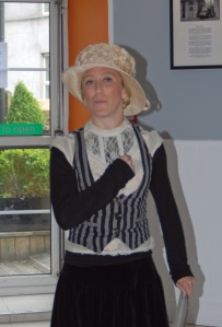 local performer Kate Magrew as Mother Jones