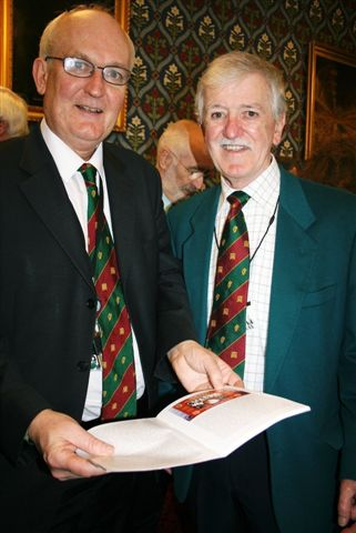 Tadhg Barry Galvin (right) with Chris Ruane MP at the House of Commons