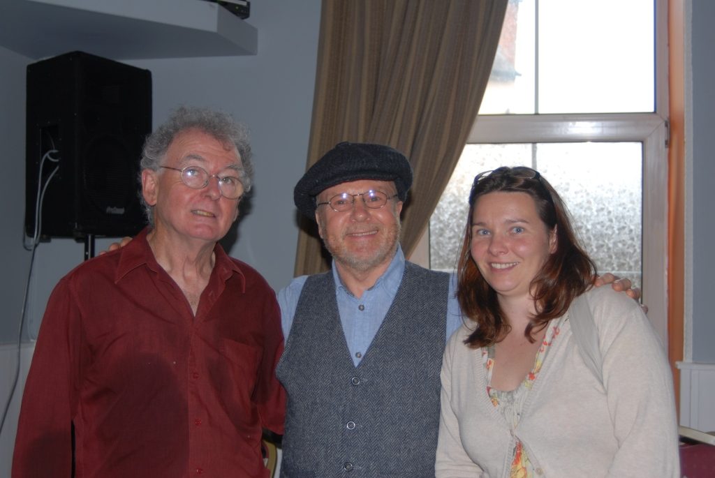 Jimmy Crowley (left) with Richard T. Cooke and Ailbhe O'Mahony of the Cork Mother Jones Festival committee