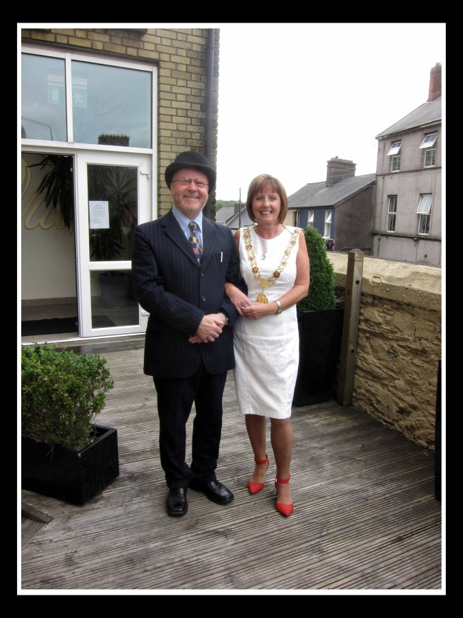 Lord Mayor of Cork, Cllr. Catherine Clancy with Richard T. Cooke of the Cork Mother Jones committee