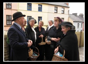 Richard T. Cooke with the Cork Shawlies at last year's festival laun