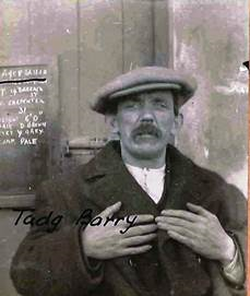 Police photo of Tadhg Barry after his arrest at City Hall meeting