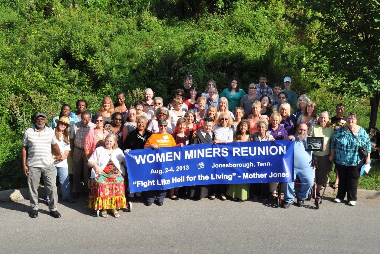 Women miners reunion at Jonesborough, Tennessee