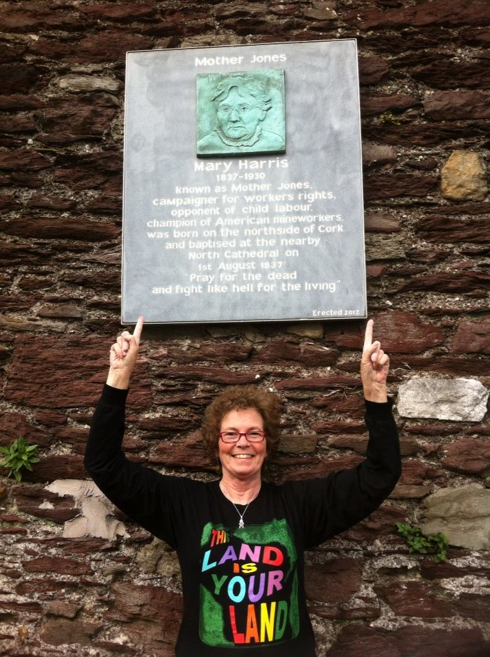 Anne paid a visit to the Mother Jones plaque in Cork last year.
