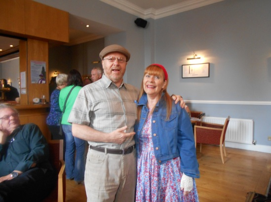 Richard Cooke of the Cork Mother Jones festival committee with Eileen O'Keeffe of the Cork Rokk Choir at the press launch