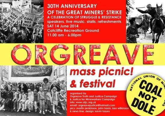 Orgreave Festival poster 2014