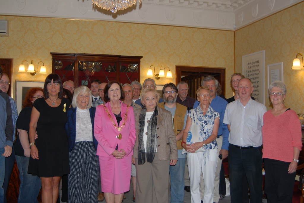 Members of the committee of Cork Mother Jones Festival and guests with Lord Mayor of Cork, Cllr. Mary Shields