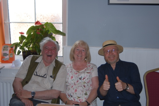 James P. McCarthy (left) with his wife Anne and Richard T. Cooke at the Maldron Hotel yesterday