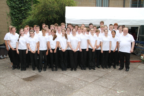 Members of the Lions Youth Band, Cheshire