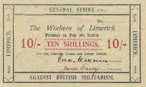 Limerick Soviet 10 Shilling note