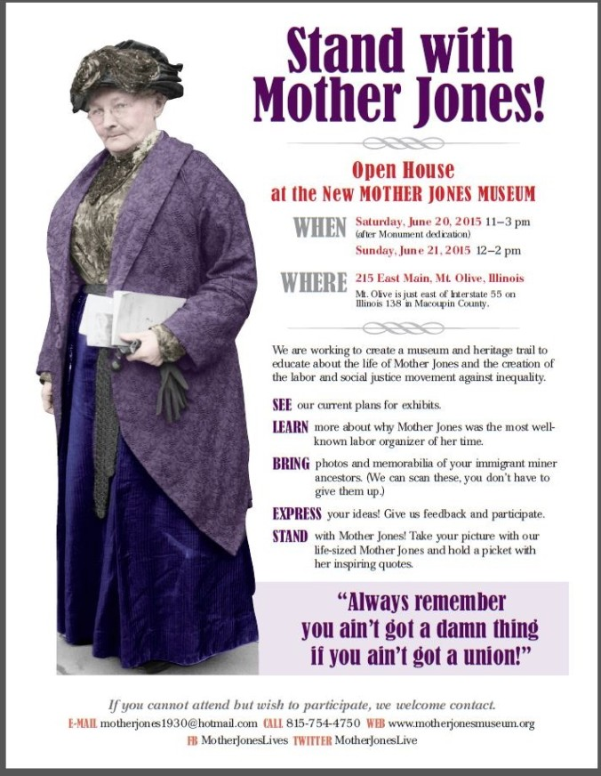 Open day at Mother Jones Museum, Mt.Olive, Illinois