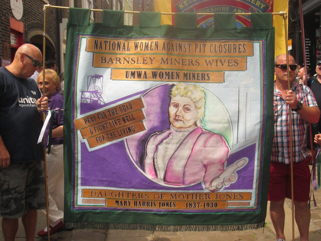 Daughters of Mother Jones banner at Durham Gala 2015