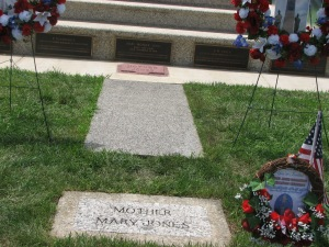Mother Jones grave at the Union Miners Cemetery, Mount Olive, Illinois.