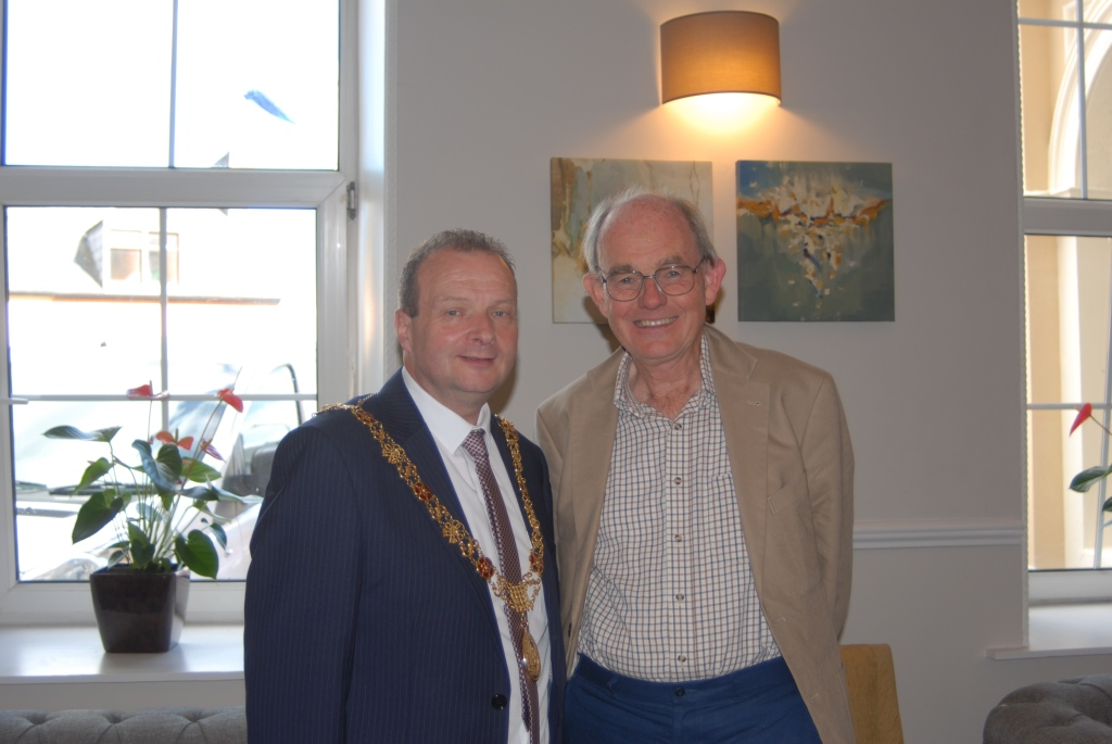 Lord Mayor Cllr. Chris O'Leary with Chris Mullin