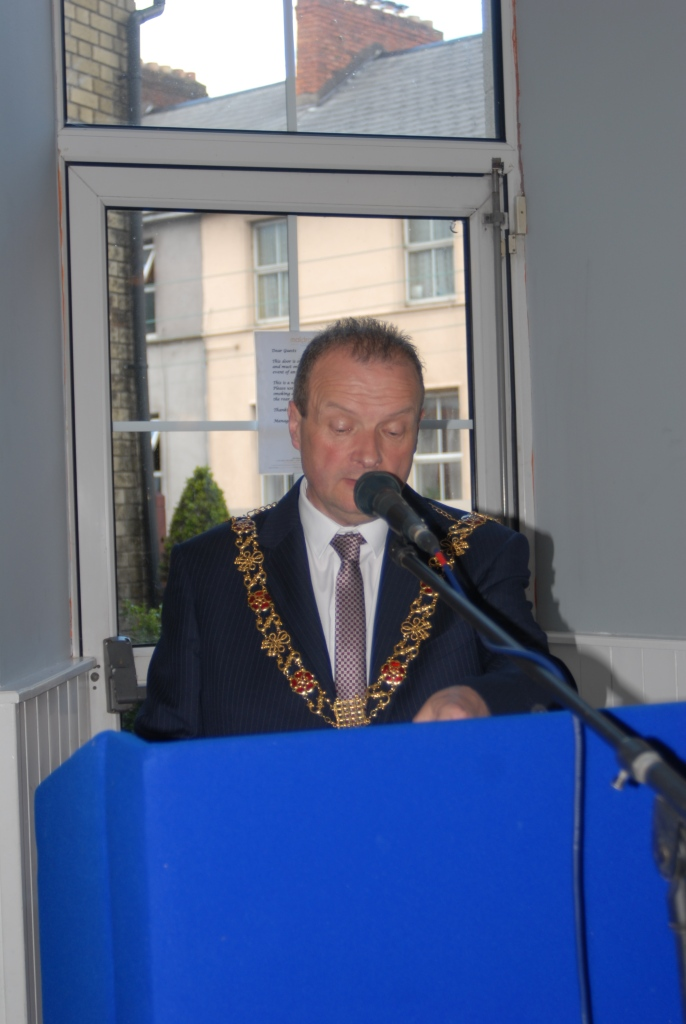 Lord Mayor Chris O'Leary at launch