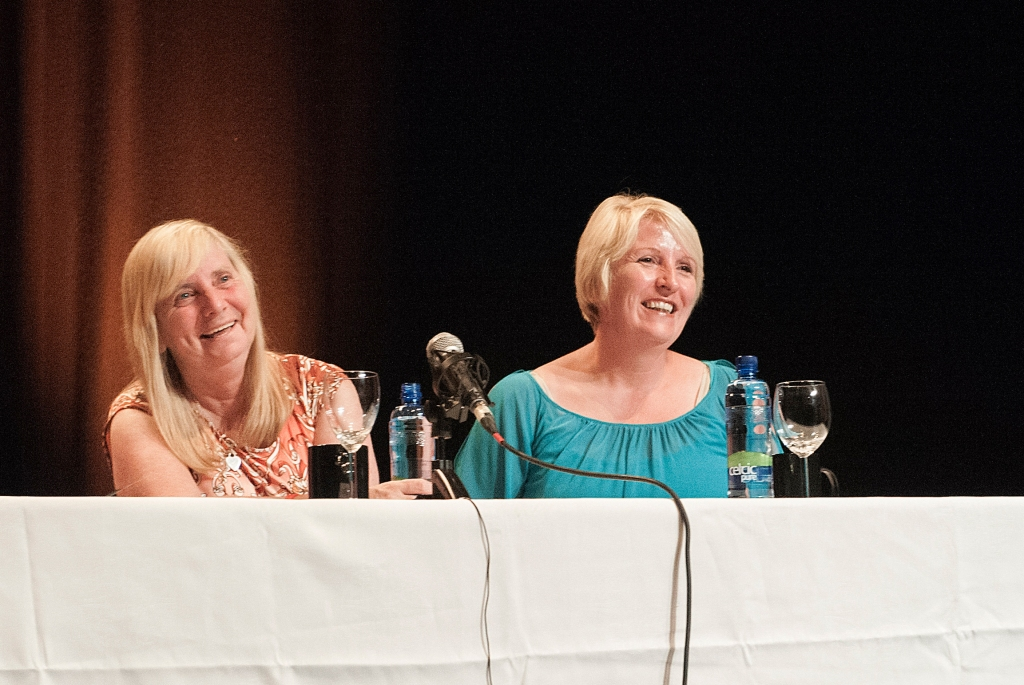 Margaret Aspinall (left) and Sue Roberts at the Spirit of Mother Jones Festival 2013. Photo (c) Martin Duggan