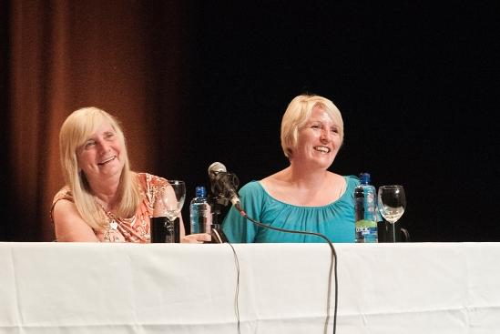 Margaret Aspinall (left) and Sue Roberts at the Spirit of Mother Jones Festival 2013. Photo (c) Martin Duggan