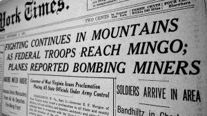 """Press Cutting from """"Mine Wars"""" era"""