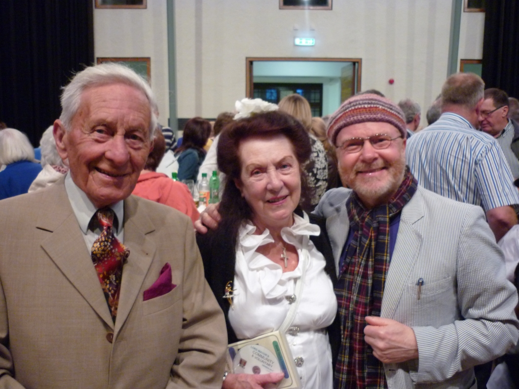 Richard T. Cooke (right) with Dr. Sean Pettit and his wife Aruba