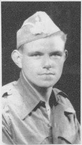 Michael O'Riordan in uniform