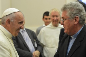 Fr McDonagh and Pope Francis