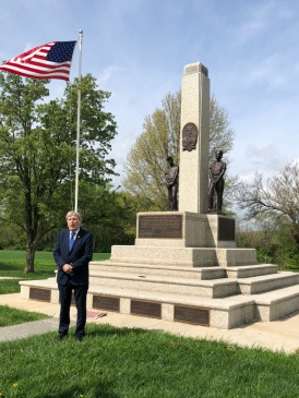Amb. Mulhall at Mother Jones Grave at Mount Olive, Illinois