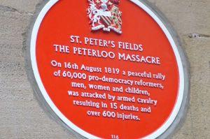 Peterloo plaque