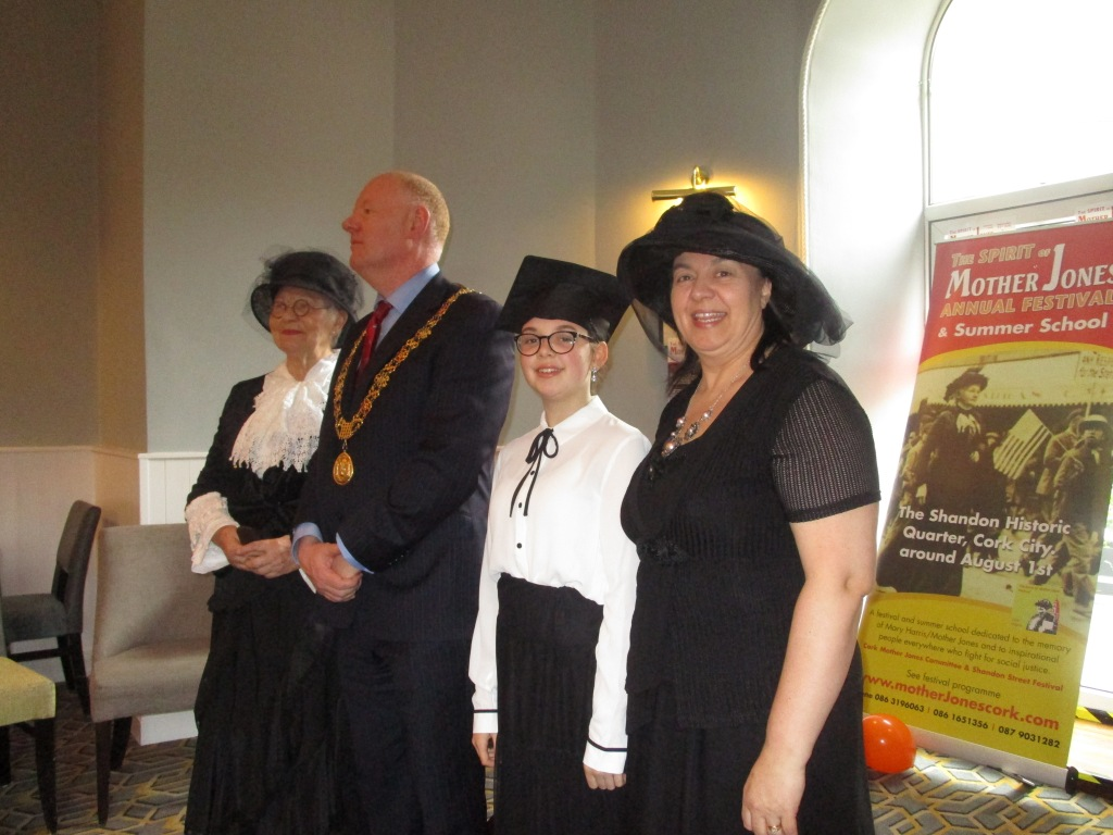 Lord Mayor Sheehan with James Nolan of the Cork Mother Jones Committee at the festival launch.